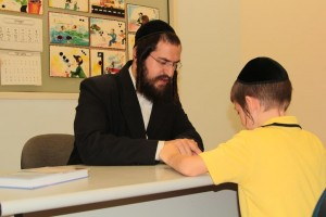 Jewish boy learning Torah